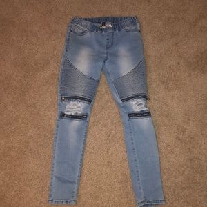 Ripped Light Baggy Jeans